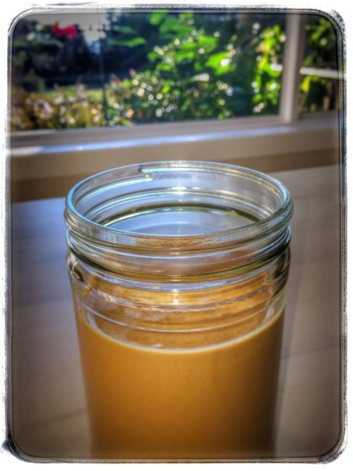 Making homemade peanut butter